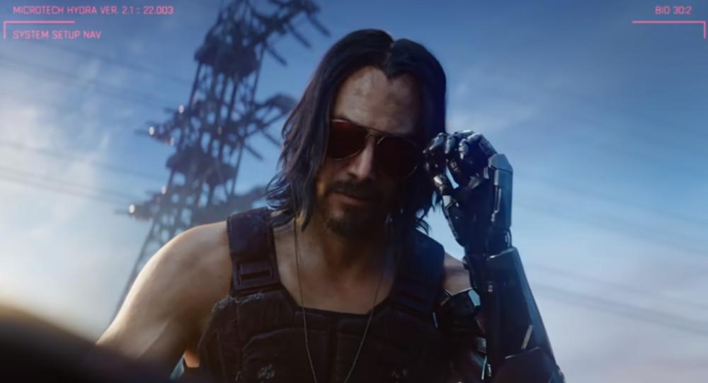 Keanu Reeves en el videojuego Cyberpunk 2077