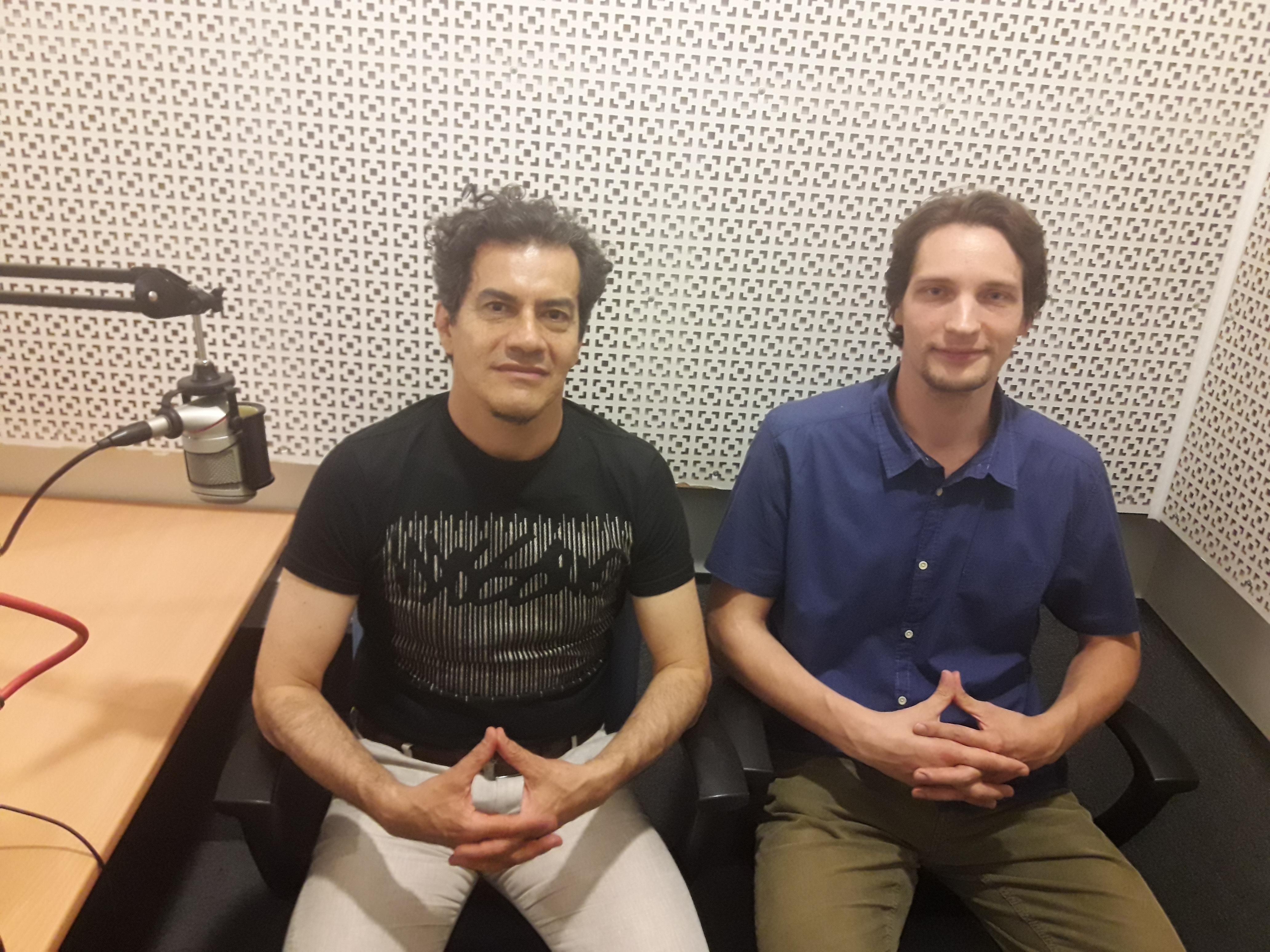 Rubén Darío Flórez (i) con Víctor Ternovsky