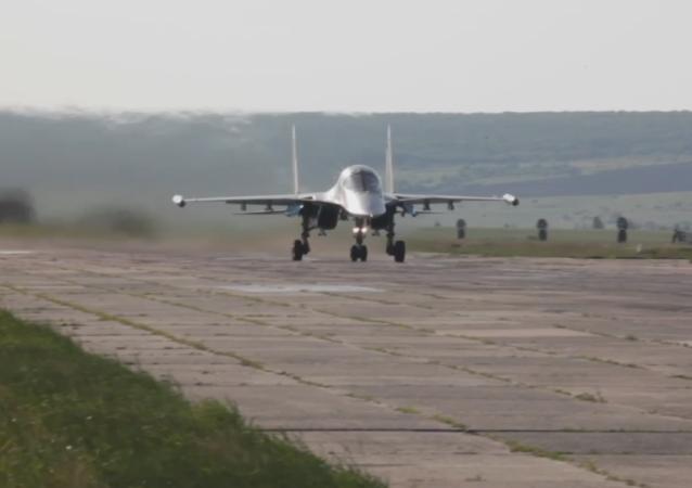 Espectaculares maniobras aéreas del Distrito Militar Oeste de Rusia