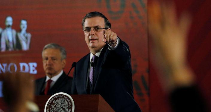 El canciller de México, Marcelo Ebrard
