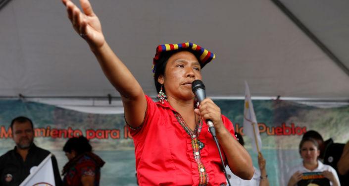 Thelma Cabrera, candidata a la presidencia de Guatemala