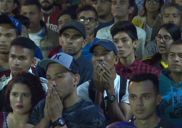La euforia de la hinchada venezolana durante el partido contra Brasil en la Copa América