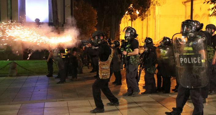 Protestas en Tiflis, Georgia