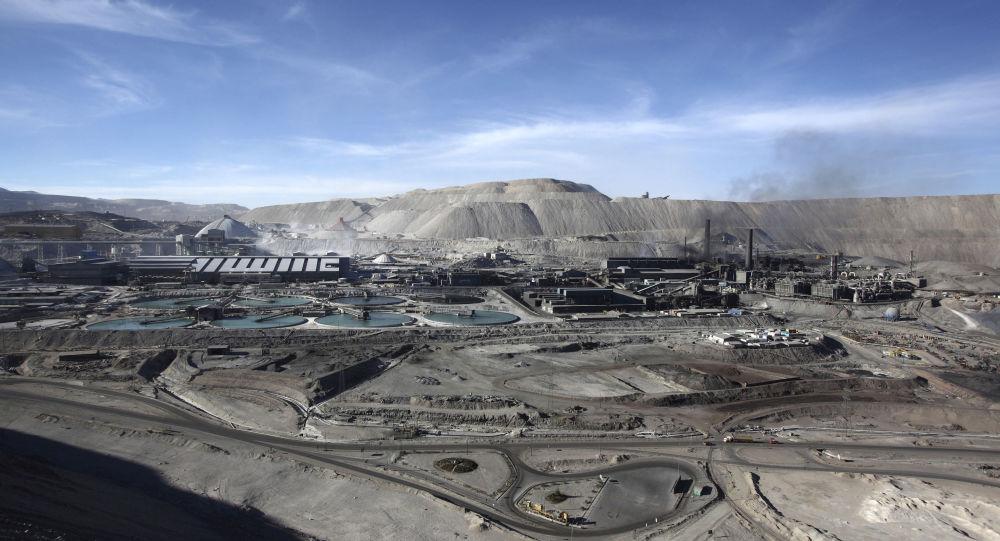 Mina de cobre a cielo abierto Chuquicamata, en el norte de Chile