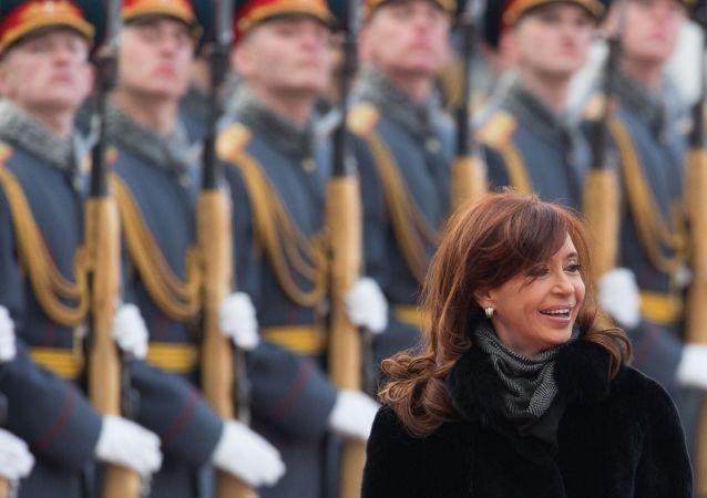 Cristina Fernández de Kirchner, expresidenta argentina, en una visita a Moscú