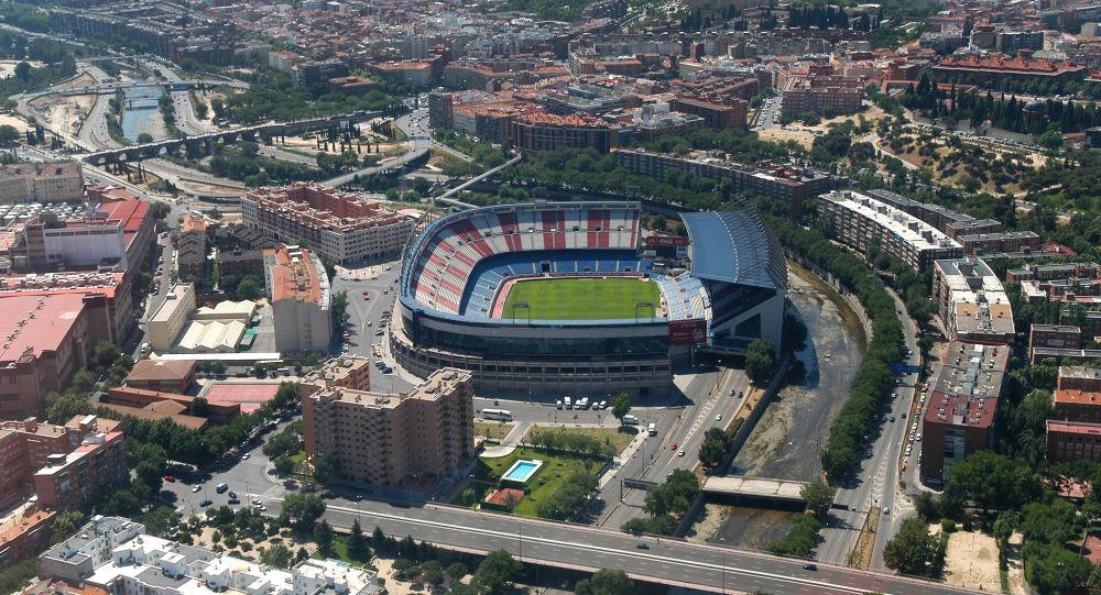 Vista del estadio Vicente Calderón en Madrid