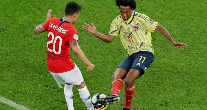 El partido entre Colombia y Chile