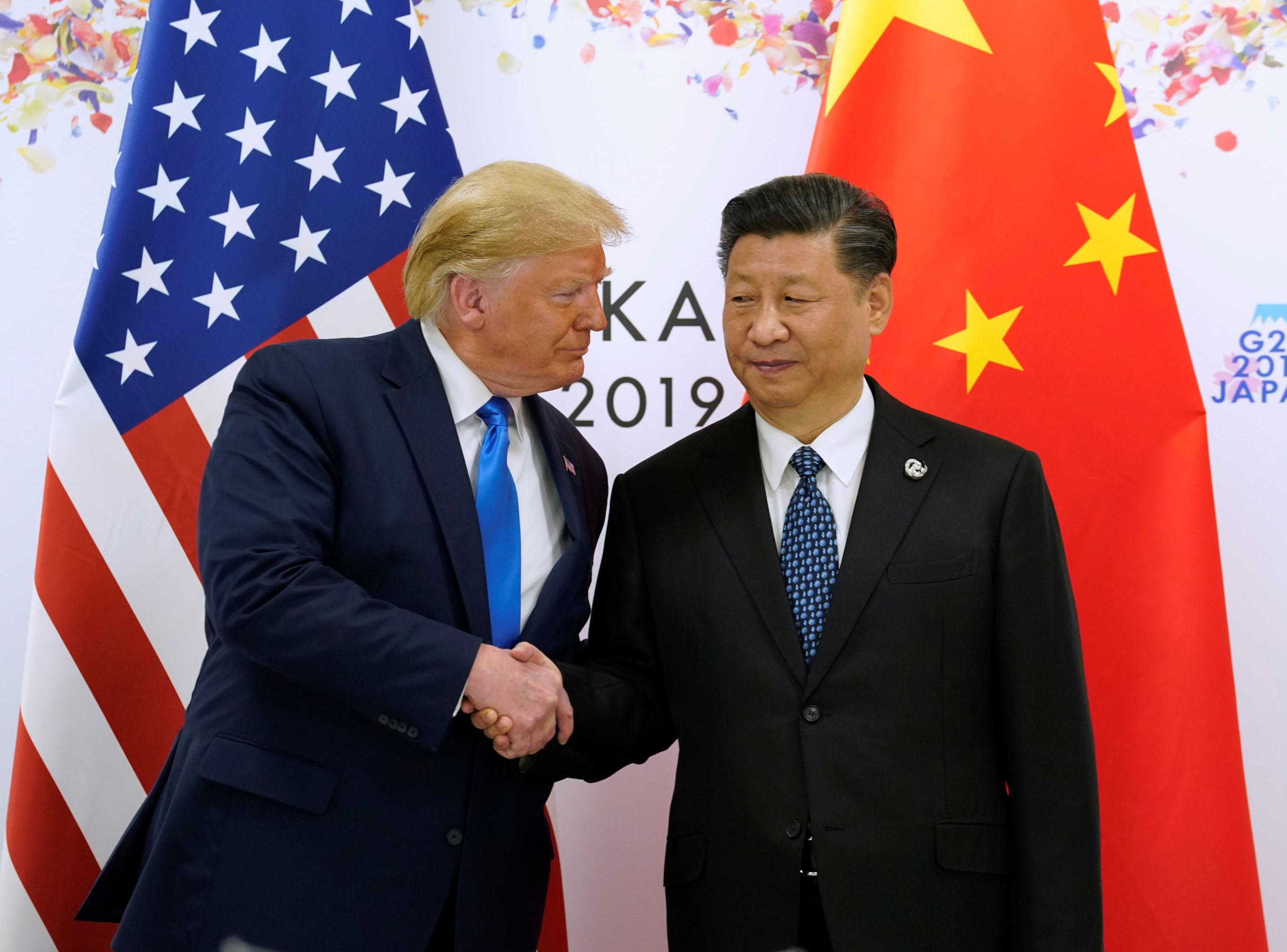 El presidente estadounidense, Donald Trump, y el presidente chino, Xi Jinping, en Osaka