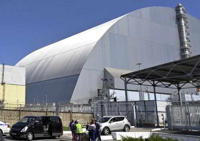 Construcción del nuevo sarcófago de la Central Nuclear de Chernóbil