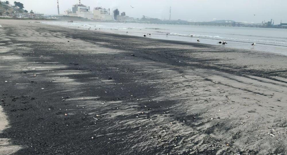 Varamietnos de carbón en la Bahía de Quintero, Chile