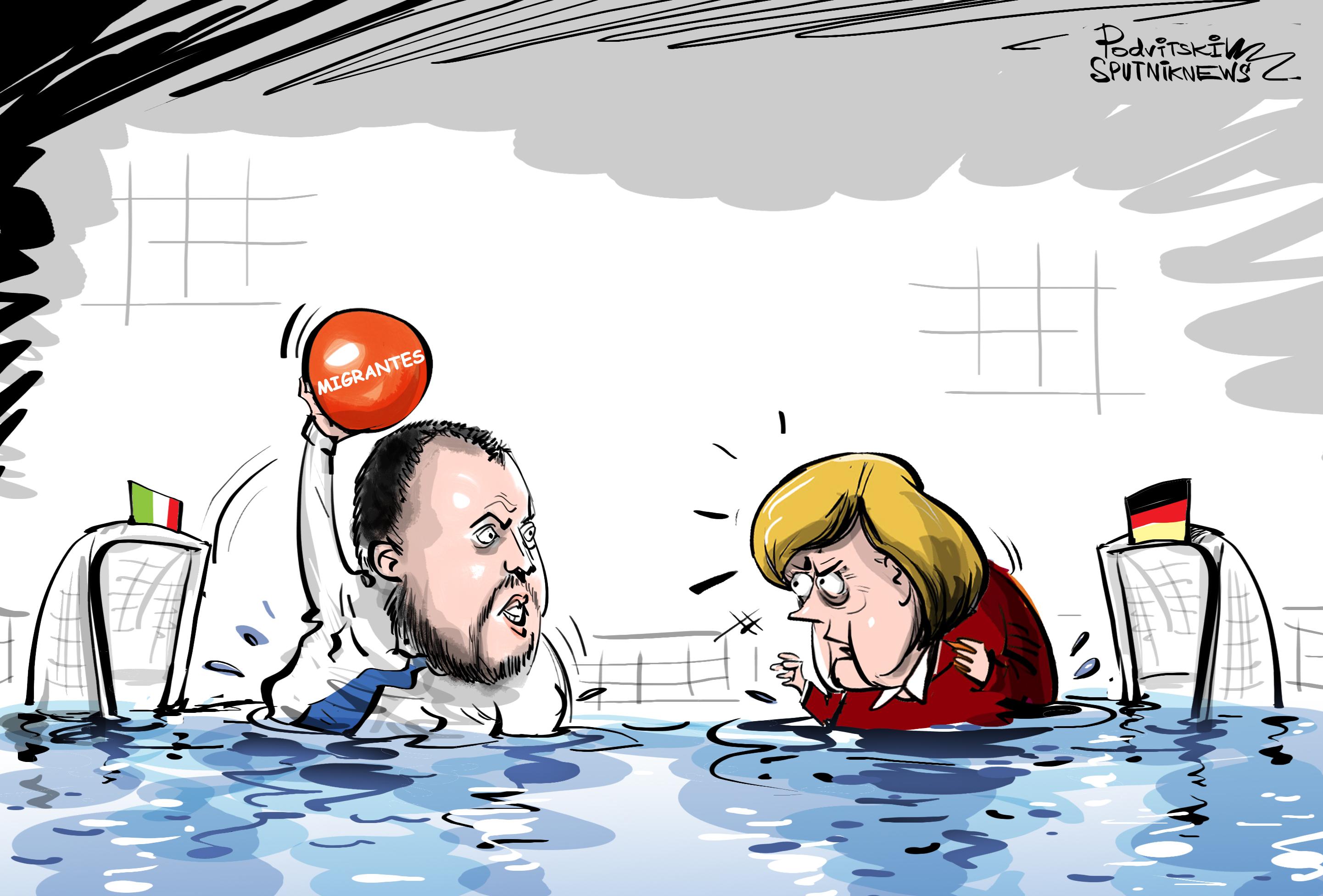 Polo de migrantes: Salvini no se deja meter un gol de Alemania