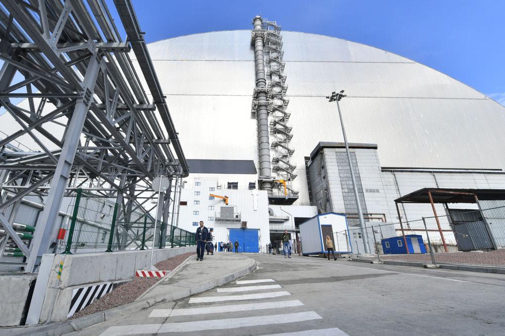 Así es el nuevo sarcófago de la central nuclear de Chernóbil