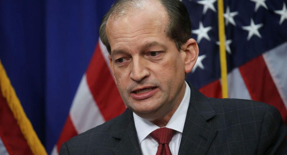Alexander Acosta, secretario de Trabajo de EEUU