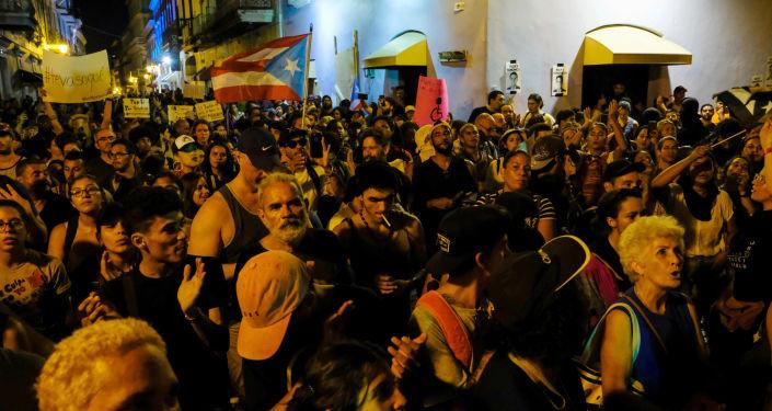 Protesta reclamando la renuncia del gobernador de Puerto Rico, Ricardo Rosselló