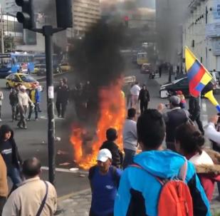Ecuador vive su segundo día de protestas con carreteras cortadas