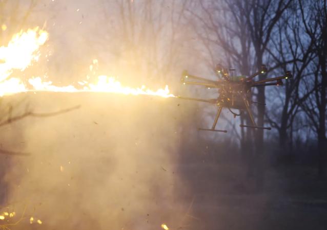 El dron lanzallamas TF-19 de Throwflame