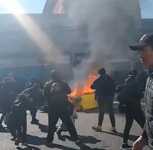 Una protesta estudiantil en Chile culmina en violencia