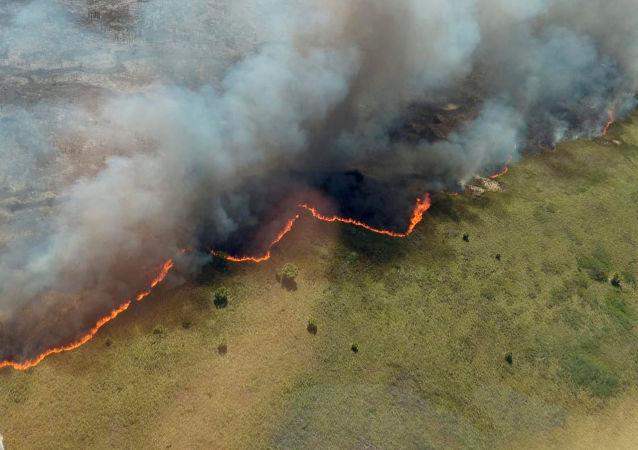 El incendio en reserva de Sian Ka'an