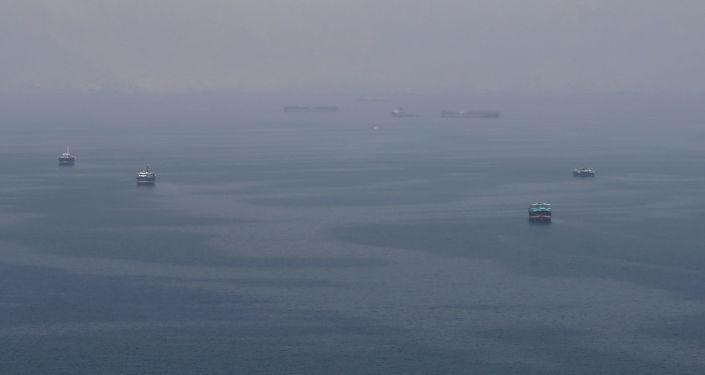Buques navegan en el estrecho Ormuz