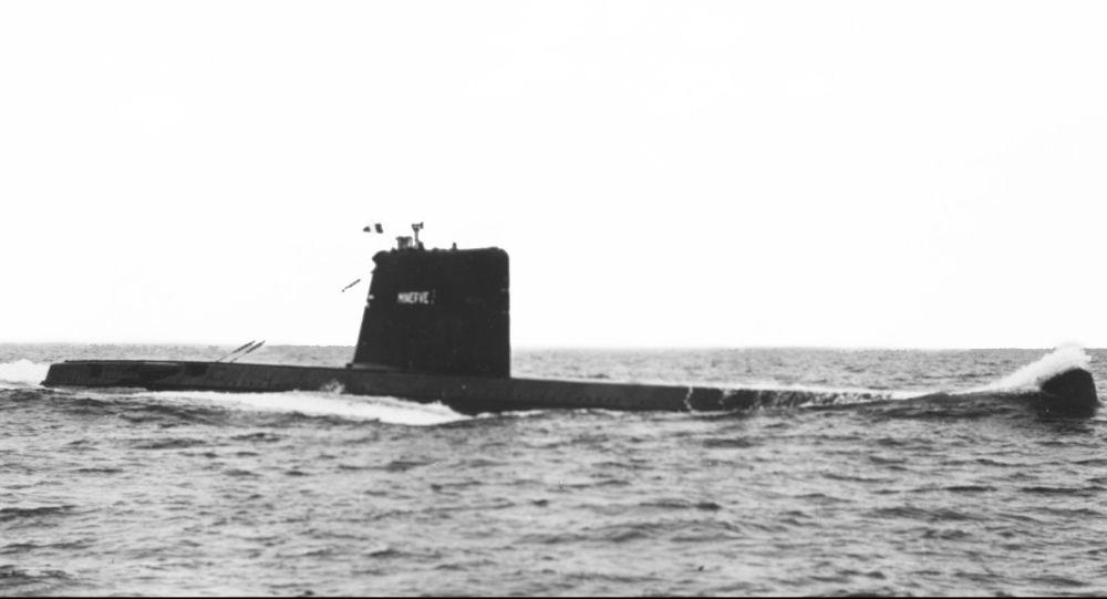 El submarino francés Minerve (archivo)
