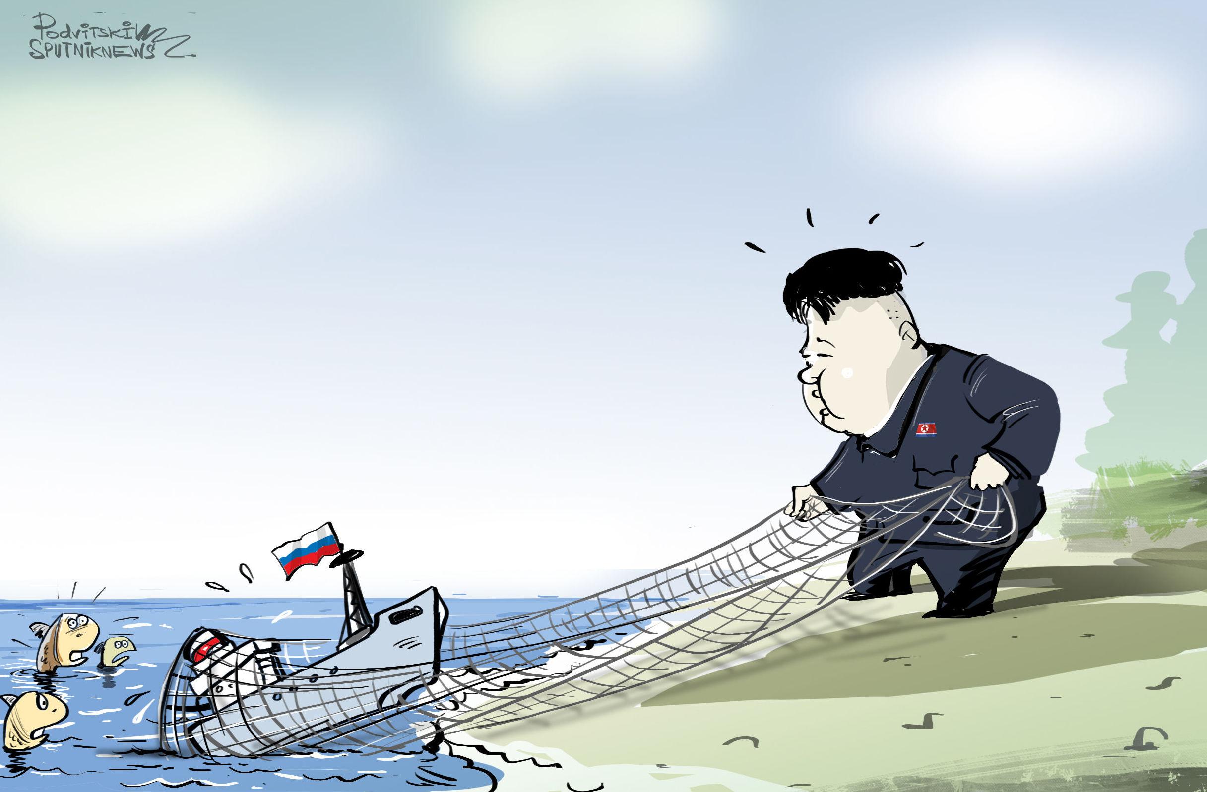 Kim Jong-un pesca un barco ruso