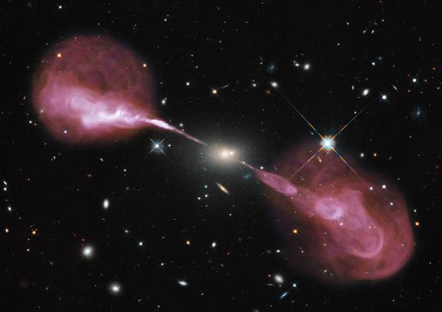 Energía entre agujeros negros (imagen referencial)