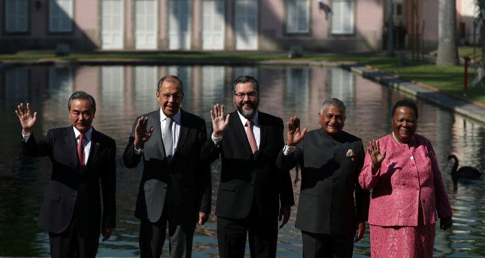 Los cancilleres de los BRICS