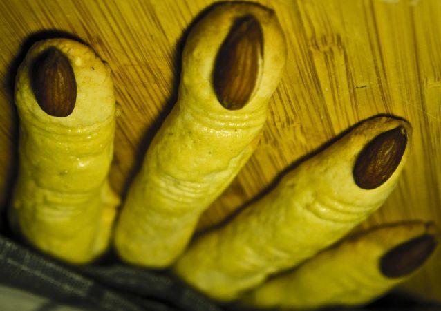 Galletas con forma de dedos