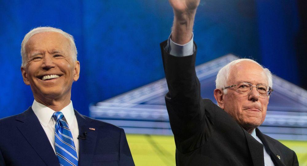 Joe Biden y Bernie Sanders, aspirantes demócratas a las presidenciales de 2020 (archivo)