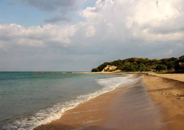 Una playa en Sri Lanka