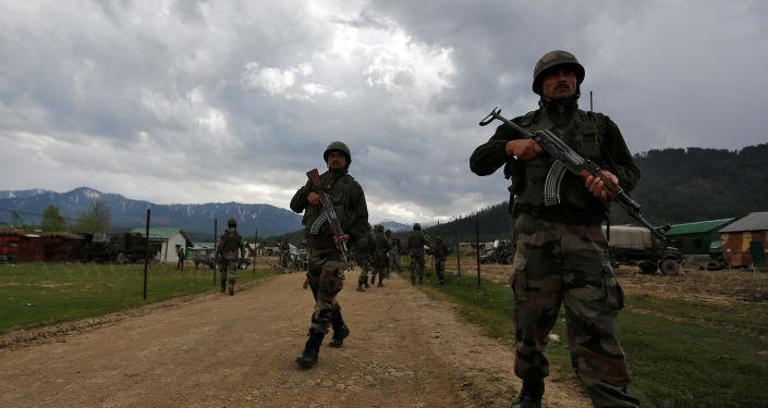 Soldados de la India en Cachemira (archivo)