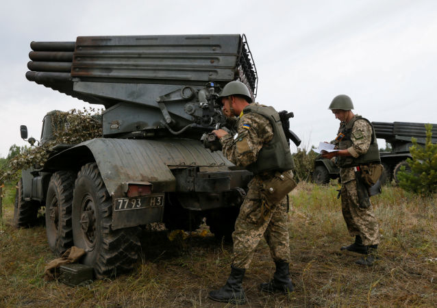 Militares ucranianos en Donbás (archivo)