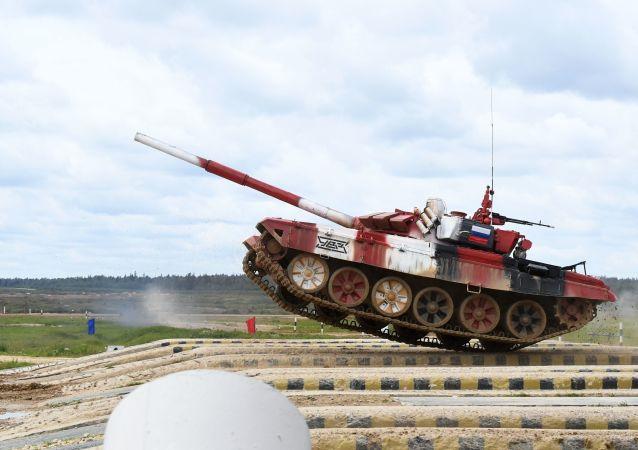 Biatlón de tanques en los Juegos Militares Internacionales Army 2019