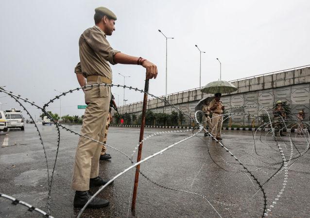 El personal de seguridad indio en Jammu