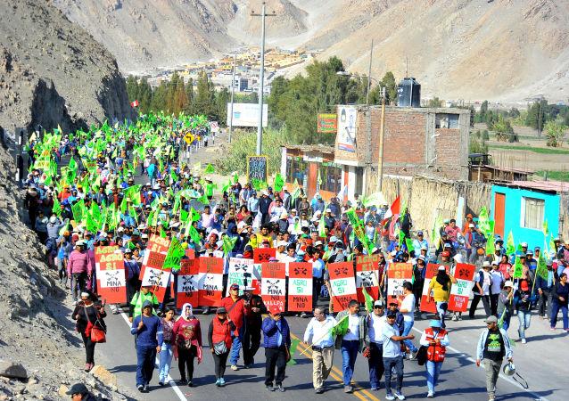 Protestas contra Tía María en Perú