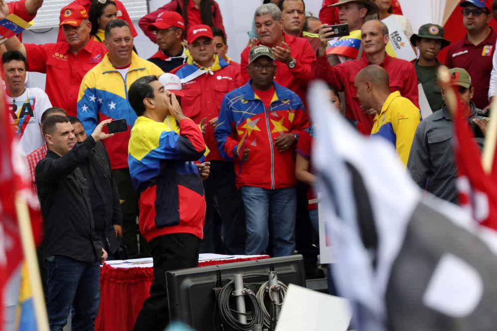 No más Trump: las fotos de la marcha venezolana en Caracas contra el presidente de EEUU