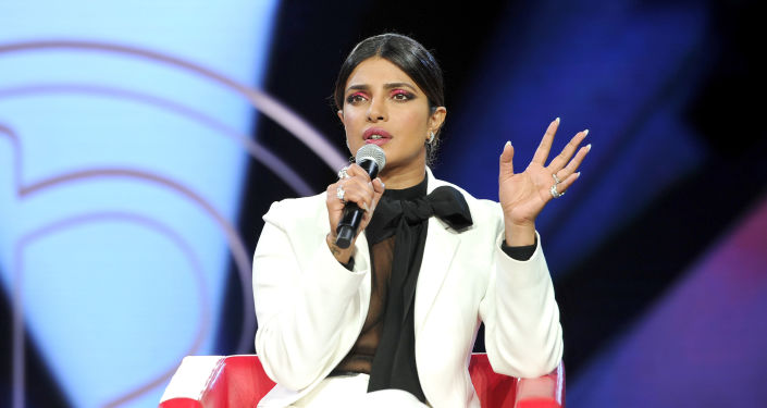 Priyanka Chopra, actriz india, durante un evento dedicado a la industria de la belleza, en Los Angeles