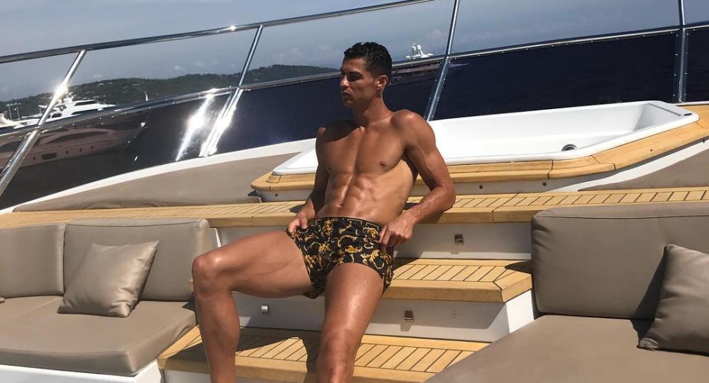 Cristiano Ronaldo en su yate