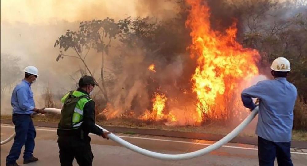 Incendios en el departamento de Santa Cruz, Bolvia