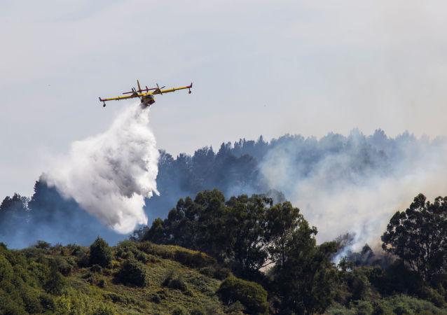 Moscú, 20 ago (Sputnik).- La superficie del incendio forestal declarado el sábado en la isla española de Gran Canaria se incrementó en un 66 por ciento a lo largo del lunes, según las autoridades locales.