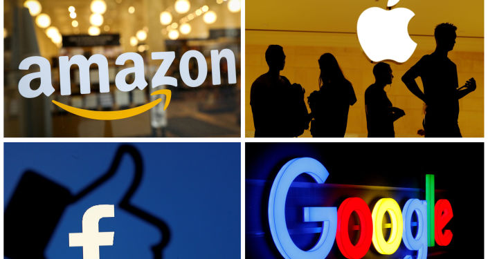 Logos de Amazon, Apples, Facebook y Google