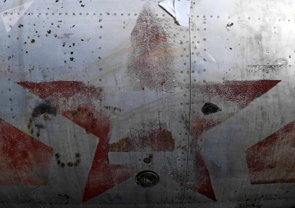Parte del bombardero Tu-2 restaurado en la Universidad de Novosobirsk