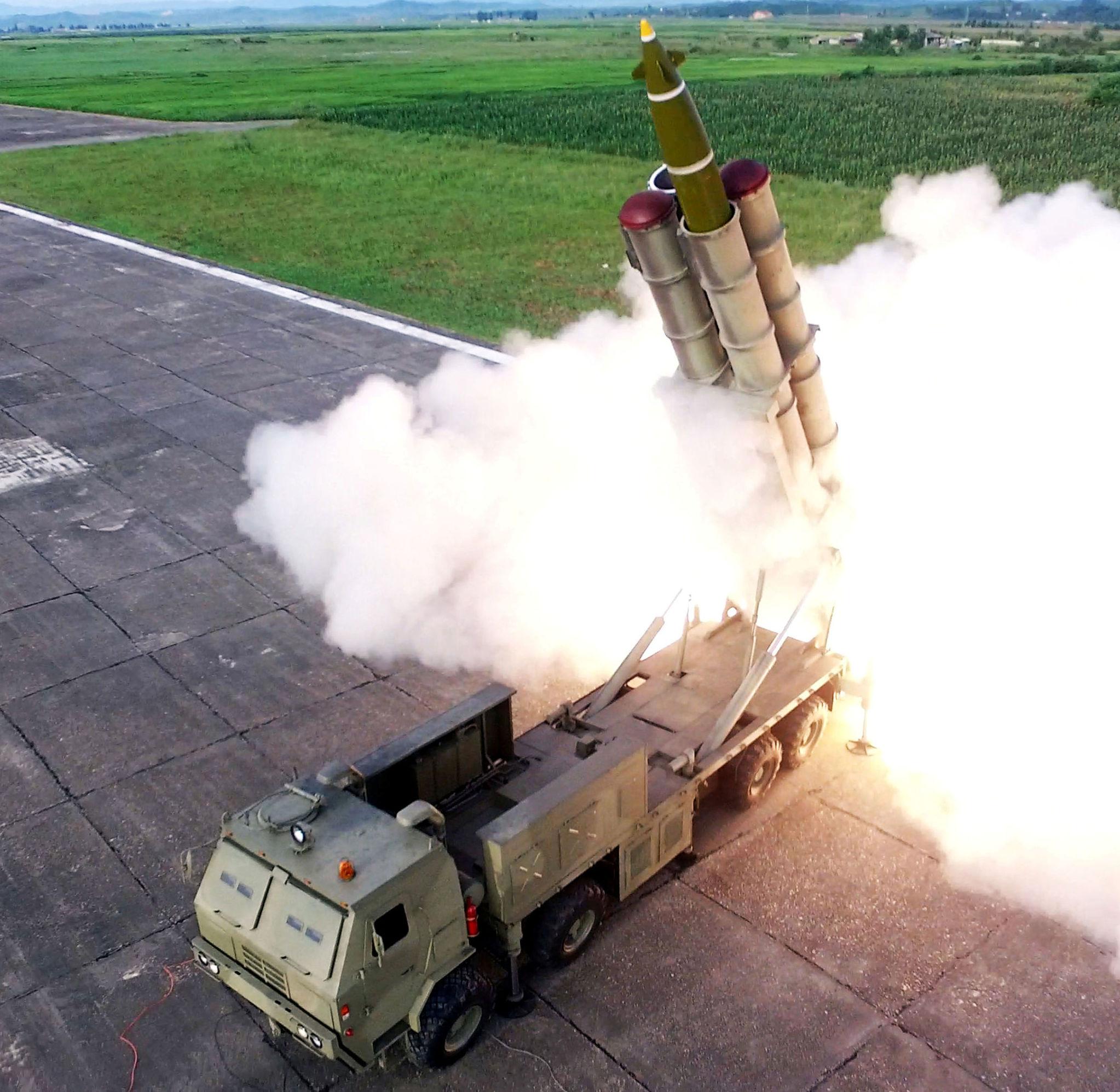 El sistema de lanzamiento múltiple de misiles norcoreano