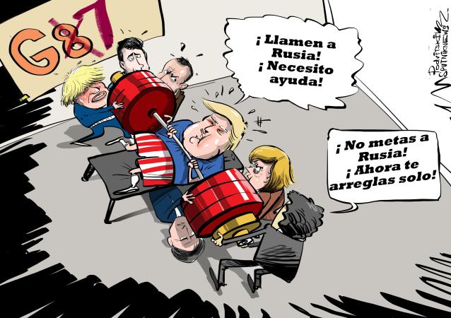 ¡Llamen a Rusia! Trump discute con los miembros del G7