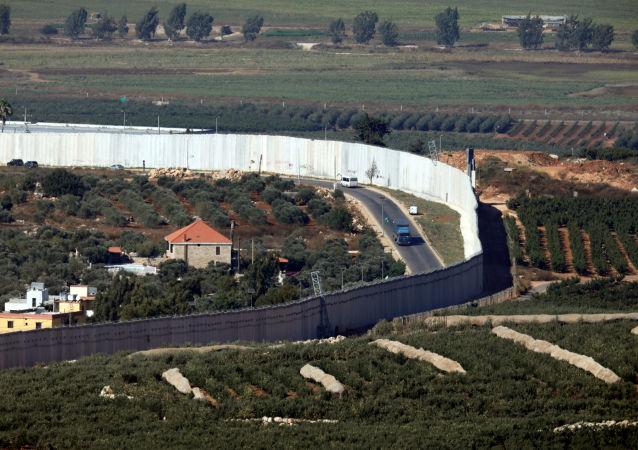La frontera de Líbano e Israel