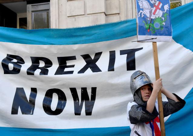 Partidarios a favor del Brexit en Londres
