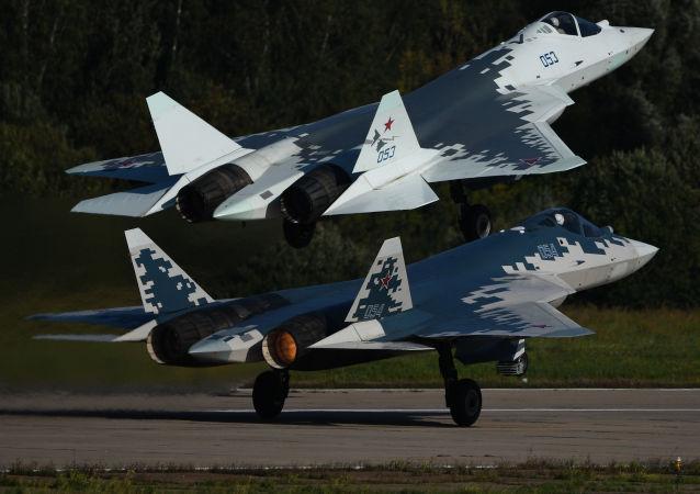 Los cazas rusos de quinta generación Su-57