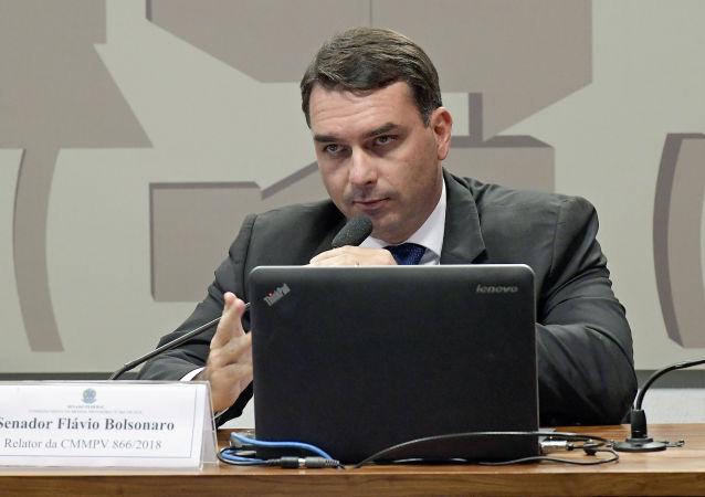 Flávio Bolsonaro, senador brasileño (archivo)