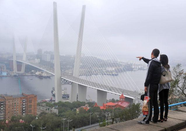 Turistas en Vladivostok, Rusia