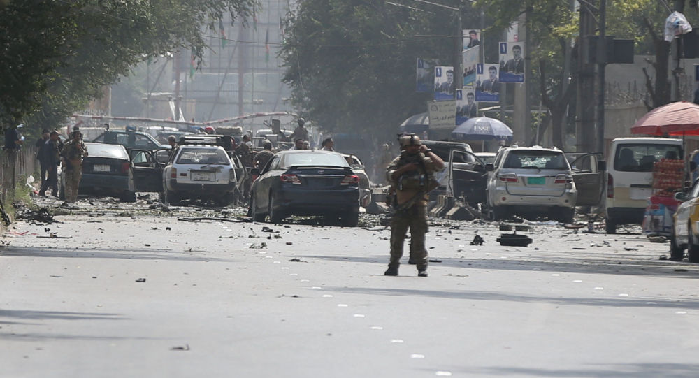 Situación en el lugar del atentado en Kabul, la capital afgana